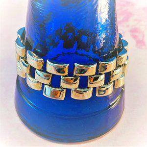 AVON Bracelet Silver Tone Mesh Link